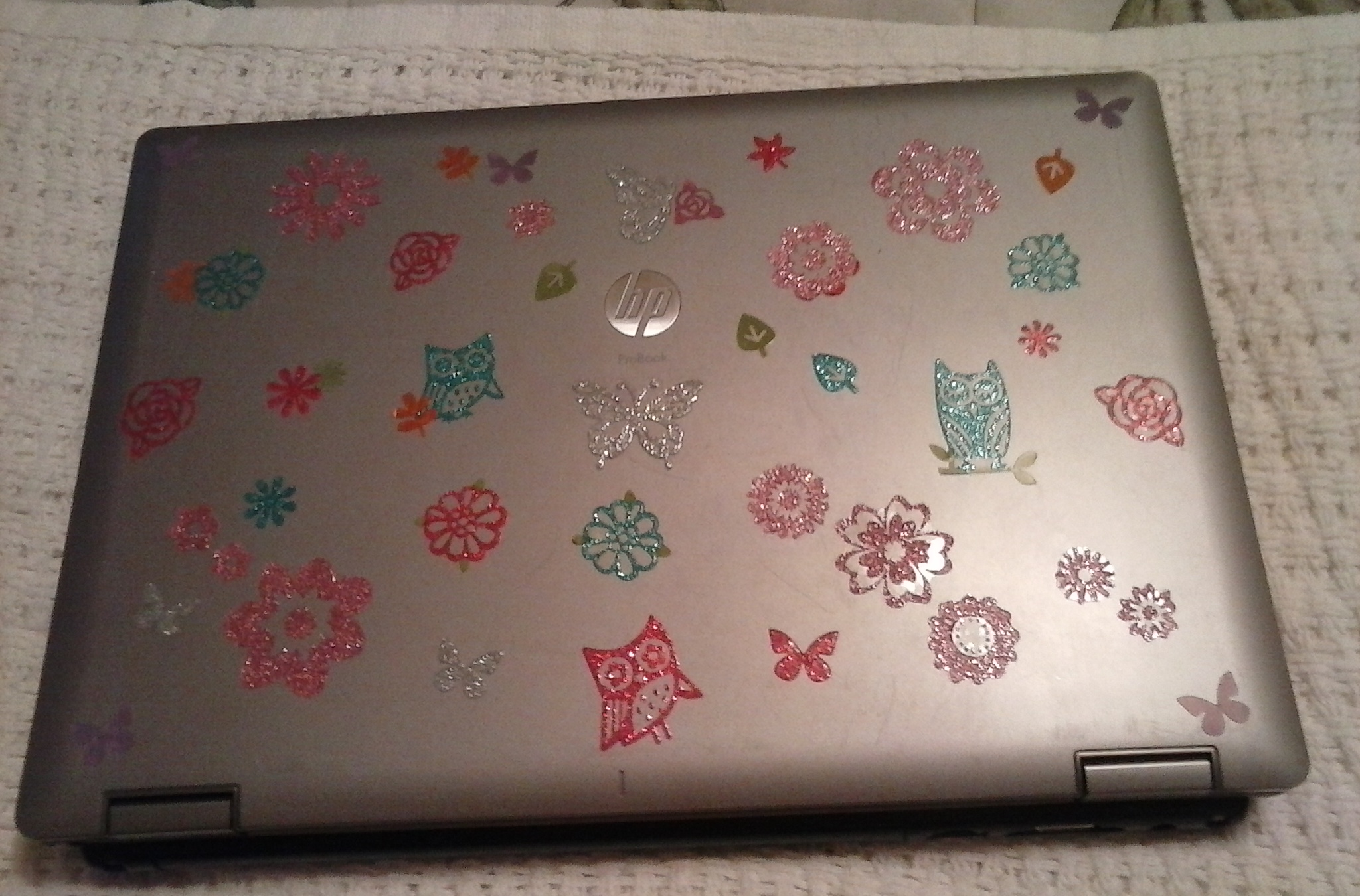 Going crazy with the stickers on my laptop, Jan. 2015