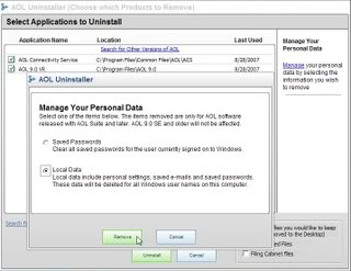 Manage your personal data for AOL by deleting some of it or all of it.