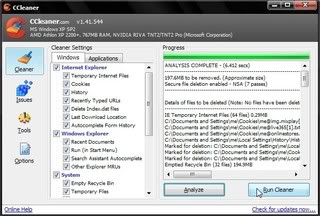 using CCleaner to clean up PC