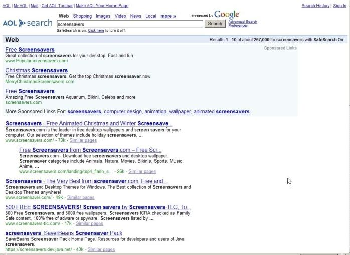 Deceptively Sweet AOL Search Results