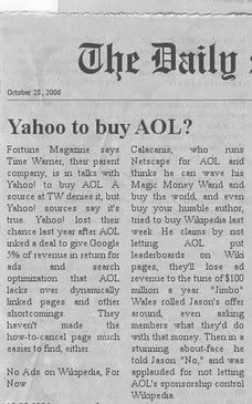 Yahoo to Buy AOL?