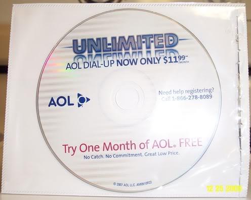My new AOL CD