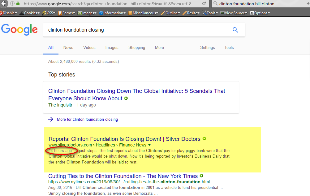 Search term: clinton foundation closing doors, 1-22-2017