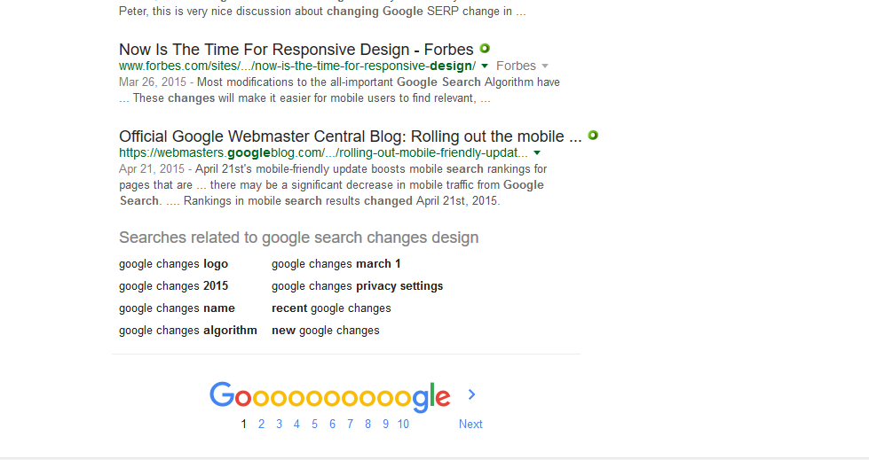 Google with green and black fonts