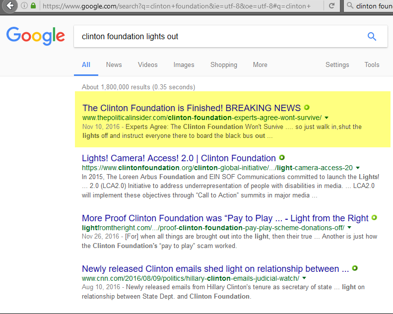 Search term: clinton foundation lights out, 1-20-2017